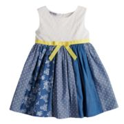 Toddler Girl Blueberi Boulevard Eyelet Chambray Pieced Sundress
