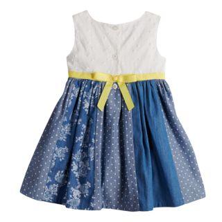 Toddler Girl Blueberi Boulevard Eyelet Chambray Pieced Sundress