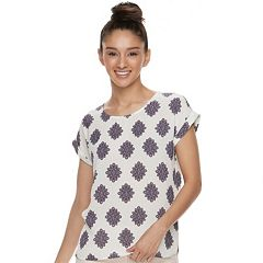 Juniors' Pink Republic Print Top