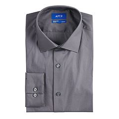 Men's Apt. 9® Premier Flex Slim-Fit Cut-Away Collar Dress Shirt