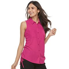 Women's Apt. 9® Ruched Georgette Blouse