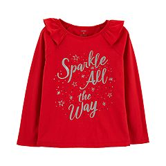 Girls 4-12 Carter's 'Sparkle All The Way' Top
