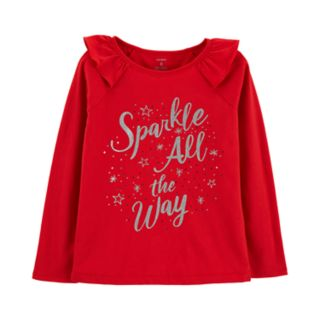 """Girls 4-12 Carter's """"Sparkle All The Way"""" Top"""