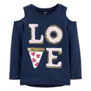 "Girls 4-12 Carter's ""Love"" Pizza Graphic Tee"