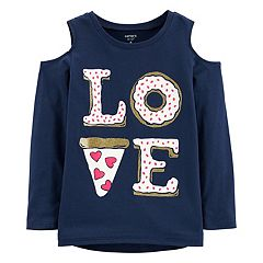Girls 4-12 Carter's 'Love' Pizza Graphic Tee