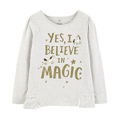 Girls 4-12 Carter's 'Yes I Believe In Magic' Glitter Graphic Top