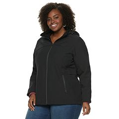 Plus Size ZeroXposur Britney Soft Shell Hooded Jacket