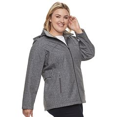 Plus Size ZeroXposur Britney Soft Shell Hooded Jacket