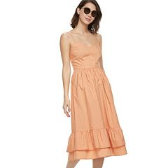 k/lab Ruffled Midi Dress