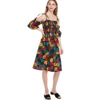 k/lab Cold Shoulder Tie Strap Dress
