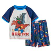 Boys 4-12 Comic Superheros 2-Piece Pajama Set