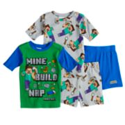 Boys 6-12 Minecraft 4-Piece Pajama Set