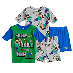Boys 6-12 Minecraft 4 pc Pajama Set