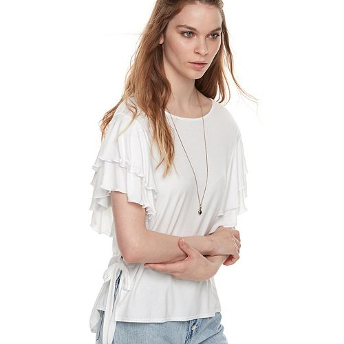 k/lab Double Ruffle Sleeve Tee