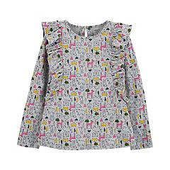 Girls 4-12 Carter's Animal-Print Ruffled Top