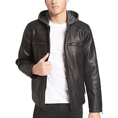 Men's Levi's® Faux-Leather Hooded Racer Jacket