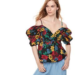 k/lab Off The Shoulder Puff Sleeve Top