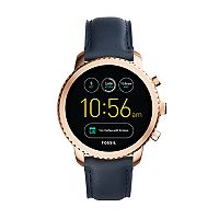 Fossil Women's Q Explorist Gen 3 Leather Smart Watch - FTW4002