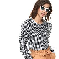 k/lab Ruffled Gingham Top