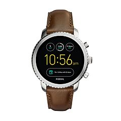 Fossil Men's Q Explorist Gen 3 Leather Smart Watch - FTW4003