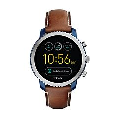 Fossil Men's Q Explorist Gen 3 Leather Smart Watch - FTW4004