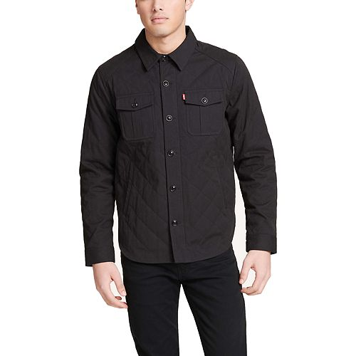 Mens Levis Diamond Quilted Shirt Jacket