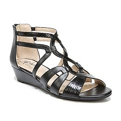 2d5445f0849352 LifeStride Yacht Women s Sandals. Black Taupe White Pewter