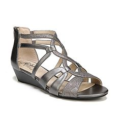 478f85533603 LifeStride Yacht Women s Sandals. Black Taupe White Pewter