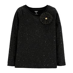 Girls 4-12 Carter's Rosette Glitter Top