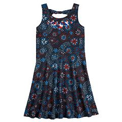 Girls 7-16 & Plus Size SO® Fireworks Print Dress