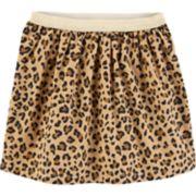 Girls 4-12 Carter's Cheetah Corduroy Skirt