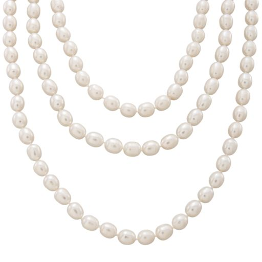 Sterling Silver Freshwater Cultured Pearl Necklace Set