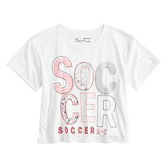 Girls 7-16 Under Armour Short Sleeve Cropped 'Soccer' Tee