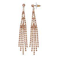 Rose Gold Fringe Nickel-Free Drop Post Earrings