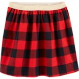 Girls 4-12 Carter's Buffalo Check Flannel Skirt