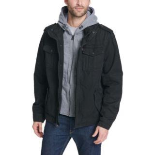 Men's Levi's® Sherpa-Lined Hooded Military Trucker Jacket