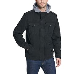 Men's Levi's® Sherpa-Lined Hooded Military Trucker Jacket
