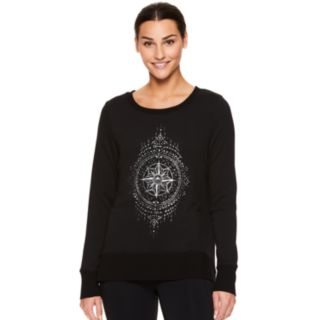 Women's Gaiam Nirvana Hamsa Graphic Yoga Top