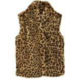 Girls 4-12 Carter's Cheetah Faux-Fur Microfleece Vest
