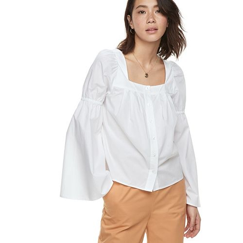 k/lab Squareneck Bell Sleeve Shirt