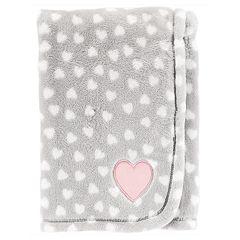 Baby Carter's Velboa Heart-Print Blanket