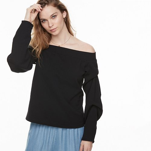 k/lab Off The Shoulder Sweatshirt