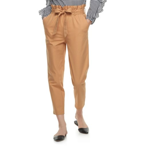 k/lab High-Waisted Paper Bag Trouser Pants