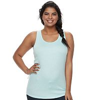 Juniors' Plus Size SO® Ribbed Racerback Tank