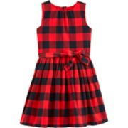 Girls 4-12 Carter's Buffalo Check Flannel Dress