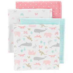 Baby Carter's 4-pack Animal & Hearts Flannel Receiving Blankets