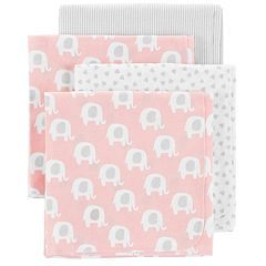 Baby Carter's 4-pack Elephant Receiving Blankets