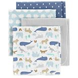 Baby Carter's 4-pack Animal Flannel Receiving Blankets