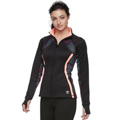 Women's FILA SPORT® Print Thumb Hole Zip-Up Jacket