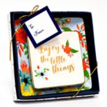 """New View """"Little Things"""" Floral Trinket Tray 2-piece Set"""